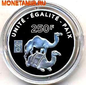 Джибути 250 франков 2002.Верблюды.Единство Равенство Мир (UNITE EGALITE PAIX) – Французские территории.Арт.000280042348/60 (фото)