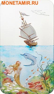 Палау 2 доллара 2012.Корабль Дельфин Русалка - Бесконечный рай.Арт.000201338967/60 (фото)