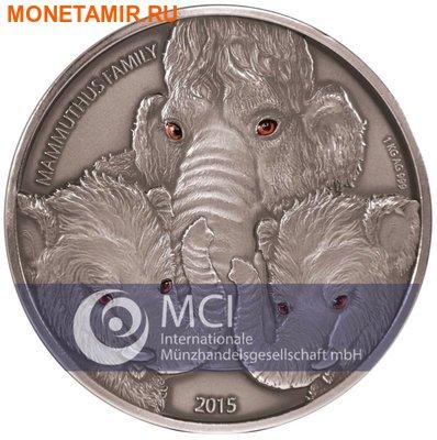 Буркина Фасо 10000 франков 2015.Семья Мамонта (эффект реальных глаз).Арт.3000D51123/60