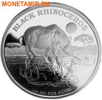 Ниуэ 2 доллара 2014.Черный Носорог серия Исчезающие виды.Арт.000100051141/60 (фото)