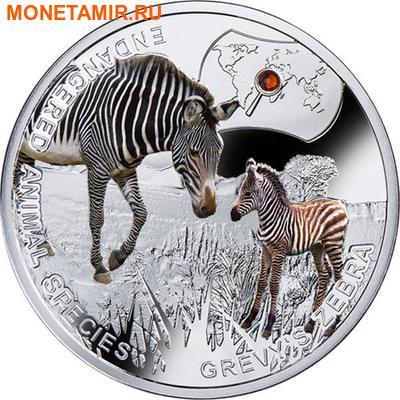 Ниуэ 1 доллар 2014.Зебра Греви – Вымирающие виды животных.Арт.60 (фото)