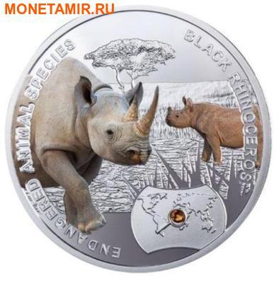 Ниуэ 1 доллар 2014.Черный Носорог – Вымирающие виды животных.Арт.60 (фото)