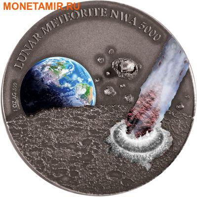 Ниуэ 1 доллар 2015.Лунный метеорит NWA 5000.Арт.60 (фото)