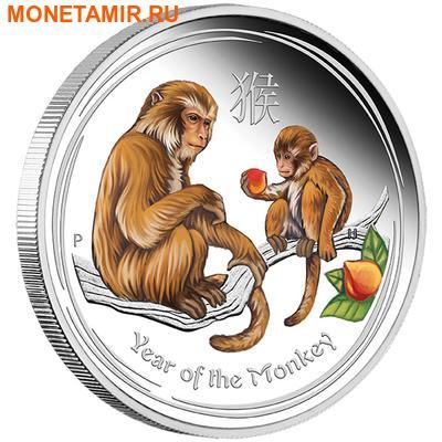Австралия 1 доллар 2016.Год обезьяны – Лунный календарь (эмаль).Арт.60 (фото)