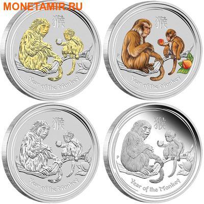 Австралия 4х1 доллар 2016.Год обезьяны – Лунный календарь.Арт.60 (фото)