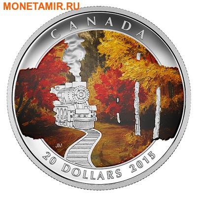 Канада 20 долларов 2015.Поезд – Осенний Экспресс.Арт.60 (фото)