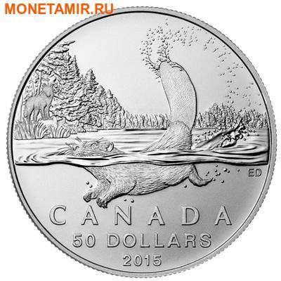 Канада 50 долларов 2015.Бобр (блистер).Арт.60 (фото)