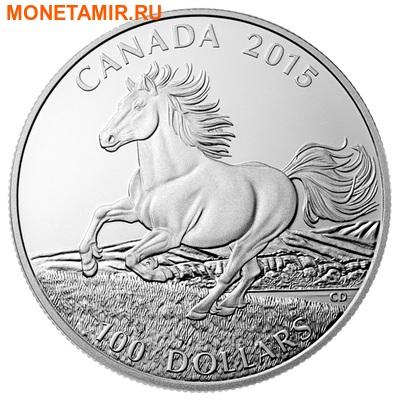 Канада 100 долларов 2015.Канадская лошадь.Арт.000598950391/60 (фото)