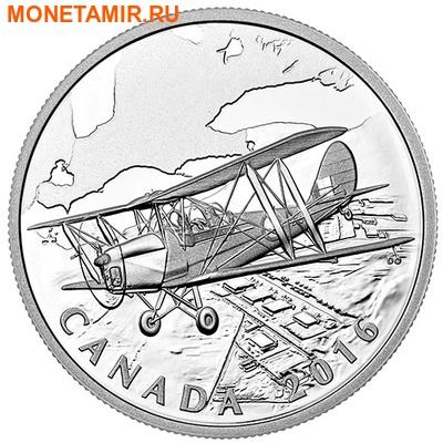 Канада 20 долларов 2016.Самолет - Тигровая бабочка серия Канадский тыл.Арт.60 (фото)