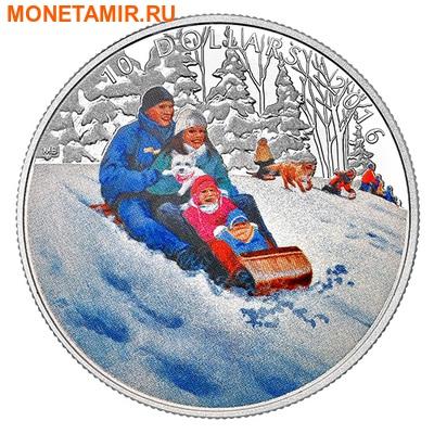 Канада 10 долларов 2016.Катание на санках – Зимние забавы.Арт.60 (фото)