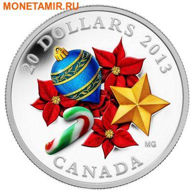 Канада 20 долларов 2013.Карамельная трость (муранское стекло).Арт.000434045701/60 (фото)