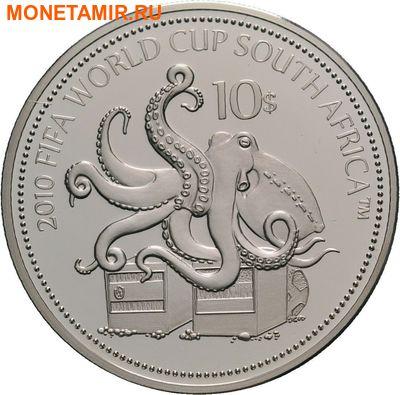 Науру 10 долларов 2010.Футбол ФИФА Южная Африка 2010.Арт.000274851085/60 (фото)