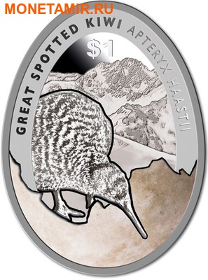 Новая Зеландия 1 доллар 2016.Киви.Арт.60