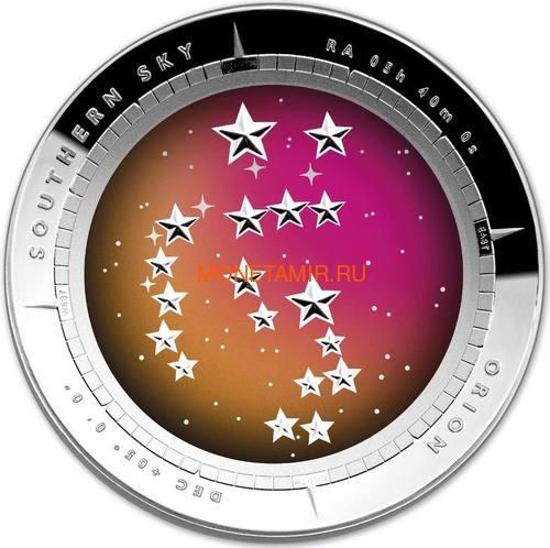 Австралия 5 долларов 2014 Созвездие Орион Южное Полушарие Выпуклая (Australia 5$ 2014 Southern Sky Orion Domed 1oz Silver Coin).Арт.60 (фото)