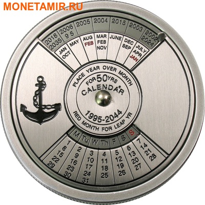 Конго 5 франков 2004.Морской календарь на 50 лет.Арт.000098110828/60 (фото)