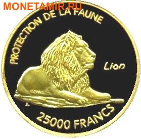Мали 25000 франков 2007.Лев – Защита животных.Арт.001500040360/60 (фото)