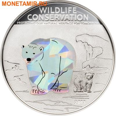 Острова Кука 1 доллар 2013.Полярный медведь (призма).Арт.000070442566/60 (фото)