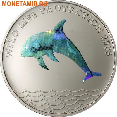 Конго 5 франков 2003.Дельфин (призма).Арт.60 (фото)