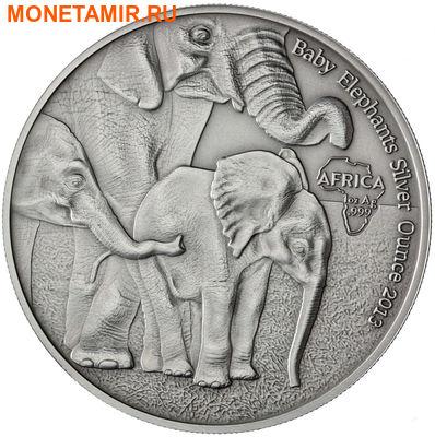 Габон 1000 франков 2013.Слоны с детенышем.Арт.000447349989/60 (фото)