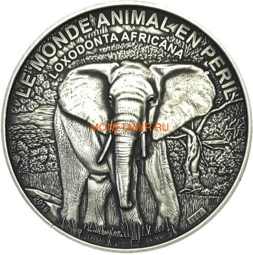 Берег Слоновой Кости 1000 франков 2016.Саванный слон.Арт.60 (фото)