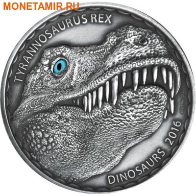 Буркина Фасо 1000 франков 2016.Динозавр – Тираннозавр Рекс (эффект реальных глаз).Арт.60 (фото)