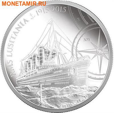 Ниуэ 2 доллара 2015.Корабль Лузитания (RMS Lusitania).Арт.60 (фото)