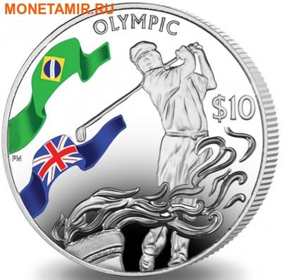 Британские Виргинские Острова 10 долларов 2016.Гольф – Олимпийские Игры в Бразилии.Арт.60 (фото)