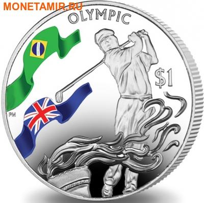 Британские Виргинские Острова 1 доллар 2016.Гольф – Олимпийские Игры в Бразилии.Арт.60 (фото)