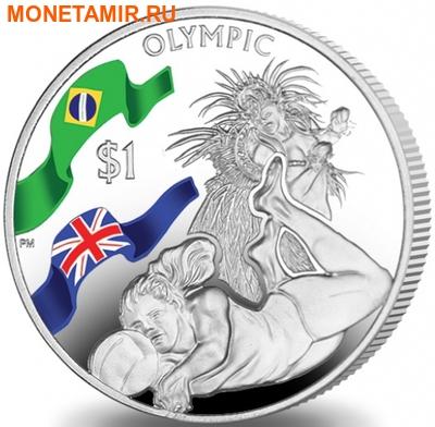 Британские Виргинские Острова 1 доллар 2016.Волейбол – Олимпийские Игры в Бразилии.Арт.60 (фото)