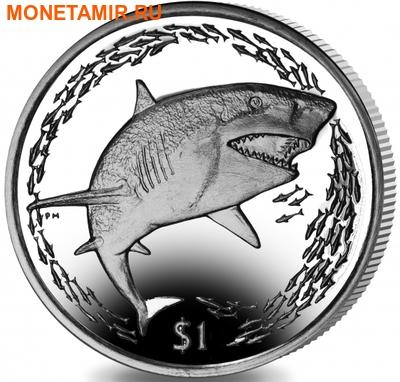 Британские Виргинские Острова 1 доллар 2016.Лимонная акула.Арт.60 (фото)
