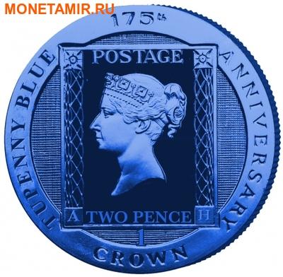 Остров Вознесения 1 крона 2015.Синяя марка – Два пенни (Two Penny Blue).Арт.60 (фото)