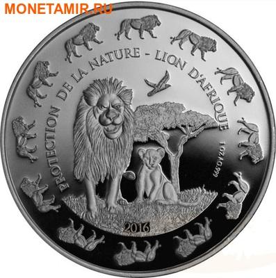 Бенин 1000 франков 2016.Лев с детенышем серия Охрана природы.Арт.60 (фото)