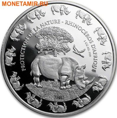 Бенин 1000 франков 2016.Носорог серия Охрана природы.Арт.60 (фото)