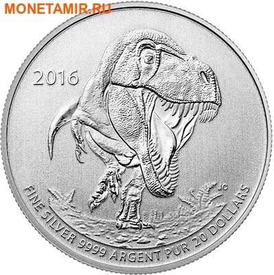 Канада 20 долларов 2016.Динозавр Тираннозавр Рекс (Tyrannosaurus rex)(Блистер).Арт.60 (фото)