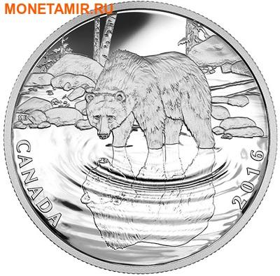 Канада 10 долларов 2016.Медведь Гризли серия Отражение живой природы.Арт.60 (фото)