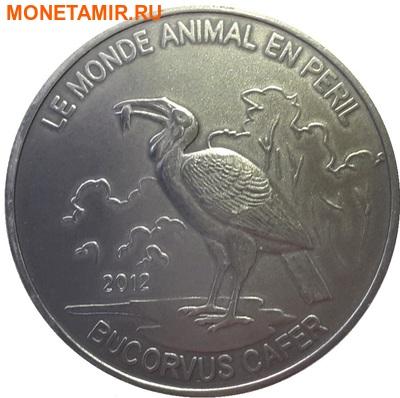 Конго 1000 франков 2012.Птица – Кафрский рогатый ворон (Bucorvus cafer).Арт.60 (фото)