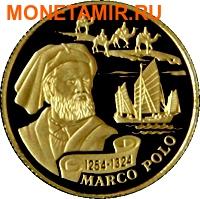Казахстан 100 тенге 2004.Марко Поло серия Самые маленькие монеты мира.Арт.60 (фото)
