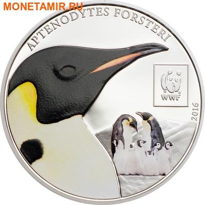 Танзания 100 шиллингов 2016.Императорский пингвин - WWF.Арт.60 (фото)