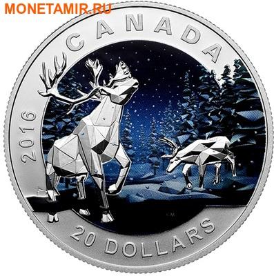 Канада 20 долларов 2016.Олень Карибу – Геометрия в искусстве.Арт.60 (фото)