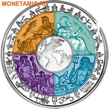 Остров Мэн 1 крона 2008.Международный год планеты Земля (Титан четыре цвета).Арт.000240016534 (фото)