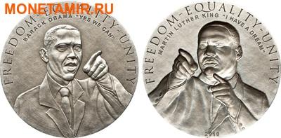 Острова Кука 2х5 долларов 2010.Барак Обама и Мартин Лютер Кинг.Арт.000289130785/60 (фото)