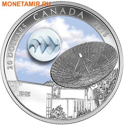 Канада 20 долларов 2016.Радиотелескоп звезда.Космос.Вселенная.Арт.60 (фото)