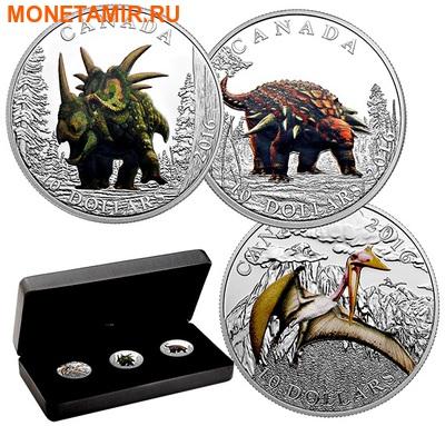 Канада 3х10 долларов 2016.Динозавры.Арт.60 (фото)