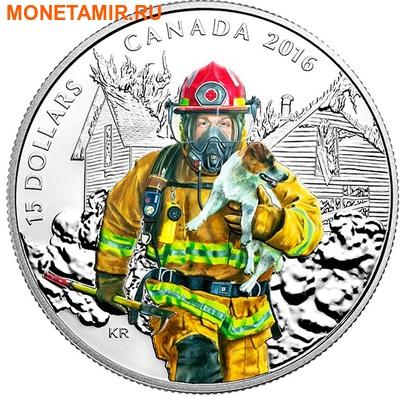 Канада 15 долларов 2016.Пожарный – Национальные герои.Арт.60 (фото)