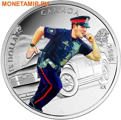 Канада 15 долларов 2016.Полицейский – Национальные герои.Арт.60 (фото)