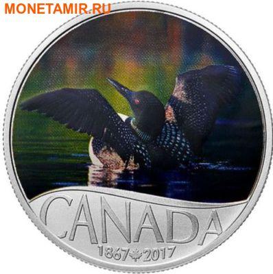 Канада 10 долларов 2017.Гагара – 150 лет Празднования Канады.Арт.60 (фото)