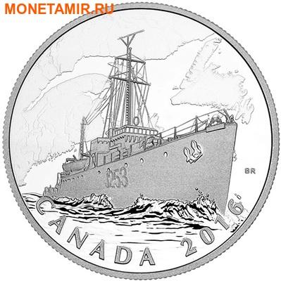 Канада 20 долларов 2016.Патрульный корабль против подводных лодок серии Канадский тыл.Арт.60 (фото)