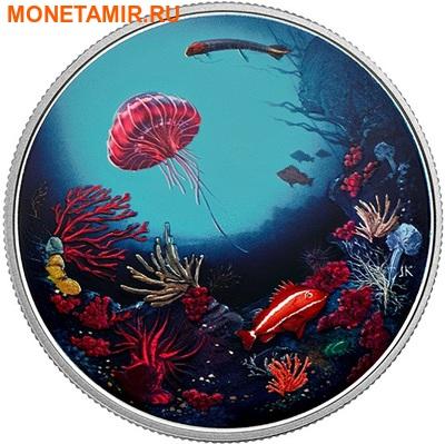 Канада 30 долларов 2016.Коралловый риф – Подводный мир – Рыбы (Ультрафиолет).Арт.60 (фото)