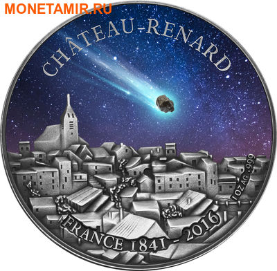 Буркина Фасо 1000 франков 2016.Метеорит Шато-Ренар (Chateau-Renard).Арт.60