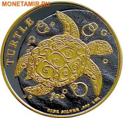 Ниуэ 2 доллара 2015.Черепаха (Black Rhodium).Арт.000408551204/60 (фото)